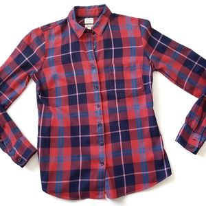 J. Crew Perfect Fit Light Weight Flannel XS